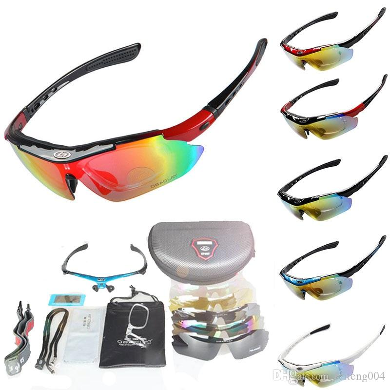 Cycling Goggles 5 Lens Polarized Cycling Eyewear Road Racing Sunglasses UV400 EV Bike Sunglass 5 Frame Color For Choice #87136