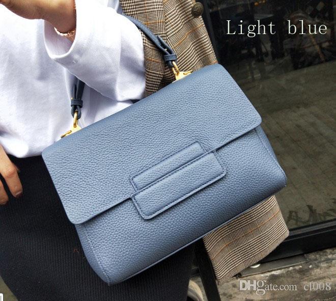 Bolso de diseñador Bolso de bandolera de moda para mujer 26 cm de ancho modelo cruzado lichee grano cuero real costumbres Logo es posible