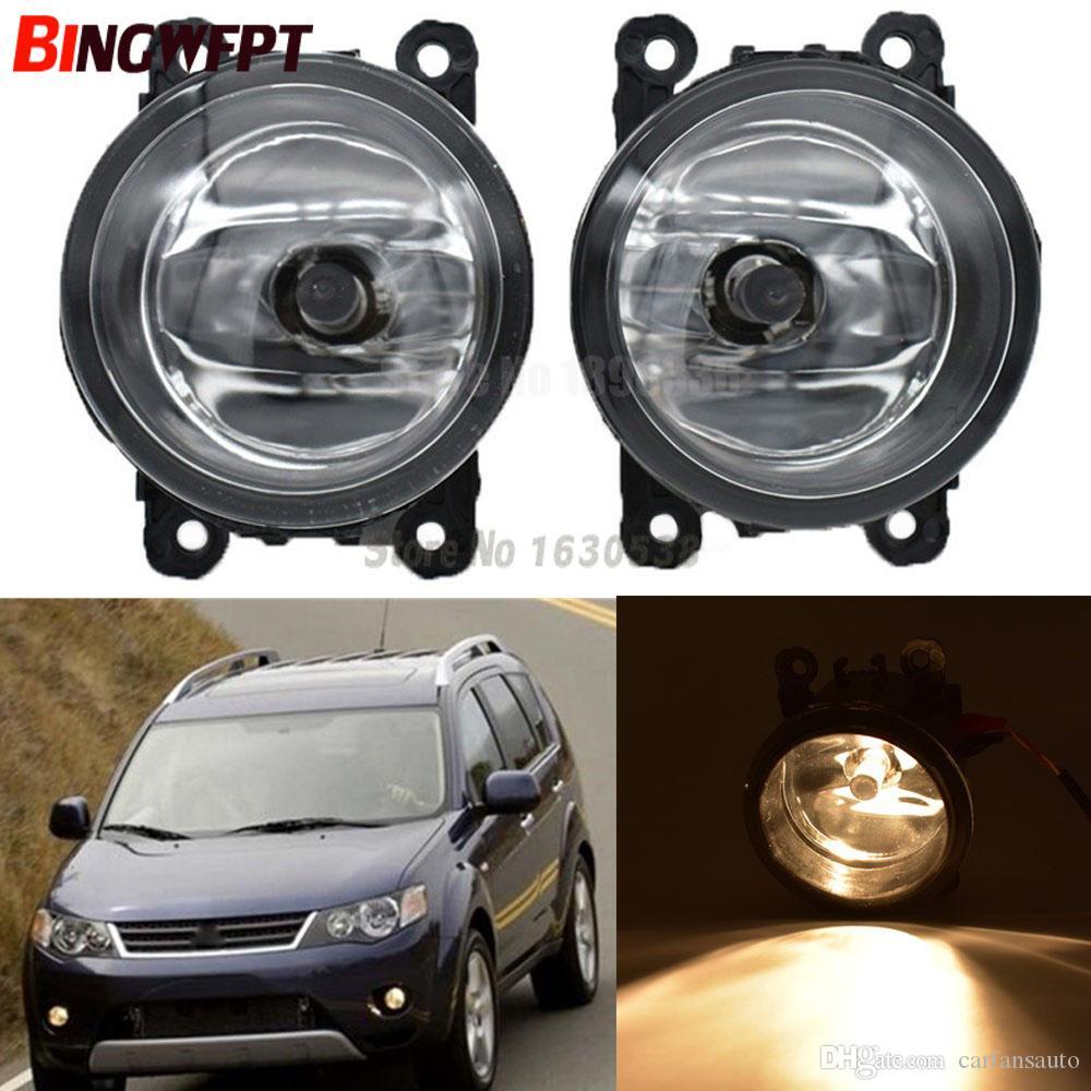 2 adet / çift Mitsubishi OUTLANDER II Için Araba Styling sis lambası CW_W Kapalı Off-Road Araç 2006-2009 12 V H11 LED Sis Işık Halojen lambalar