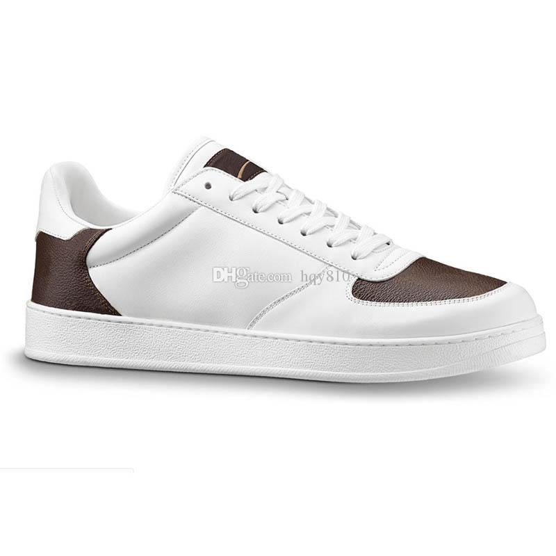 scarpe uomini famosi pattini di cuoio genuini vecchio fiore Parigi dimensioni sneakers moda scarpe da uomo 38-44 modello 246.083.288