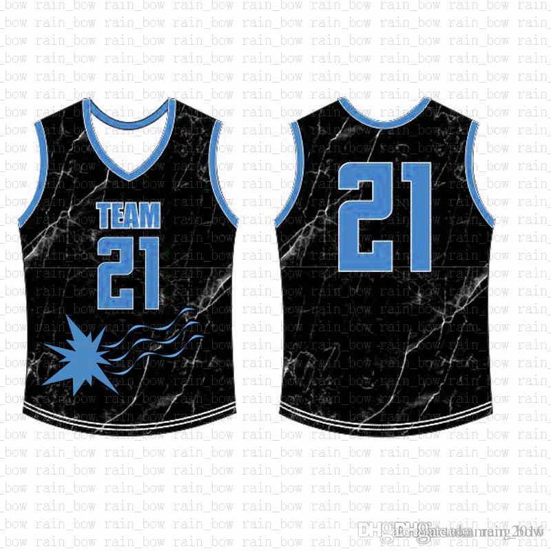 2019 الجديدة مخصصة لكرة السلة جيرسي جودة عالية رجالي التطريز الشحن المجاني شعارات 100٪ خياطة أعلى بيع A15457