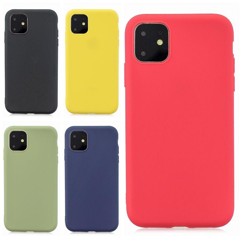 Dünner weicher TPU-Mattkasten für Iphone 11 5.8 6.1 6.5 Zoll 2019 neues Samsung-Galaxie-Anmerkungs-10 Pro plus ultra dünnes einfaches Luxuxtelefon-Abdeckungs-Coque