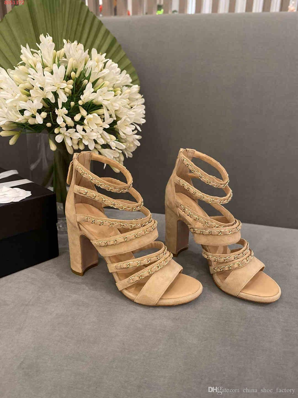 Europeu e ao estilo americano Nude e sandálias de salto alto das mulheres negras Moda arrefecer mulheres couro genuíno sapatos vêm com caixa