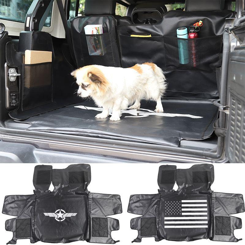 Auto-Heck-Box Pet Mat wasserdichter Haustier-Auto-Sitzabdeckung für Jeep Wrangler JL 2018+ Autozubehör