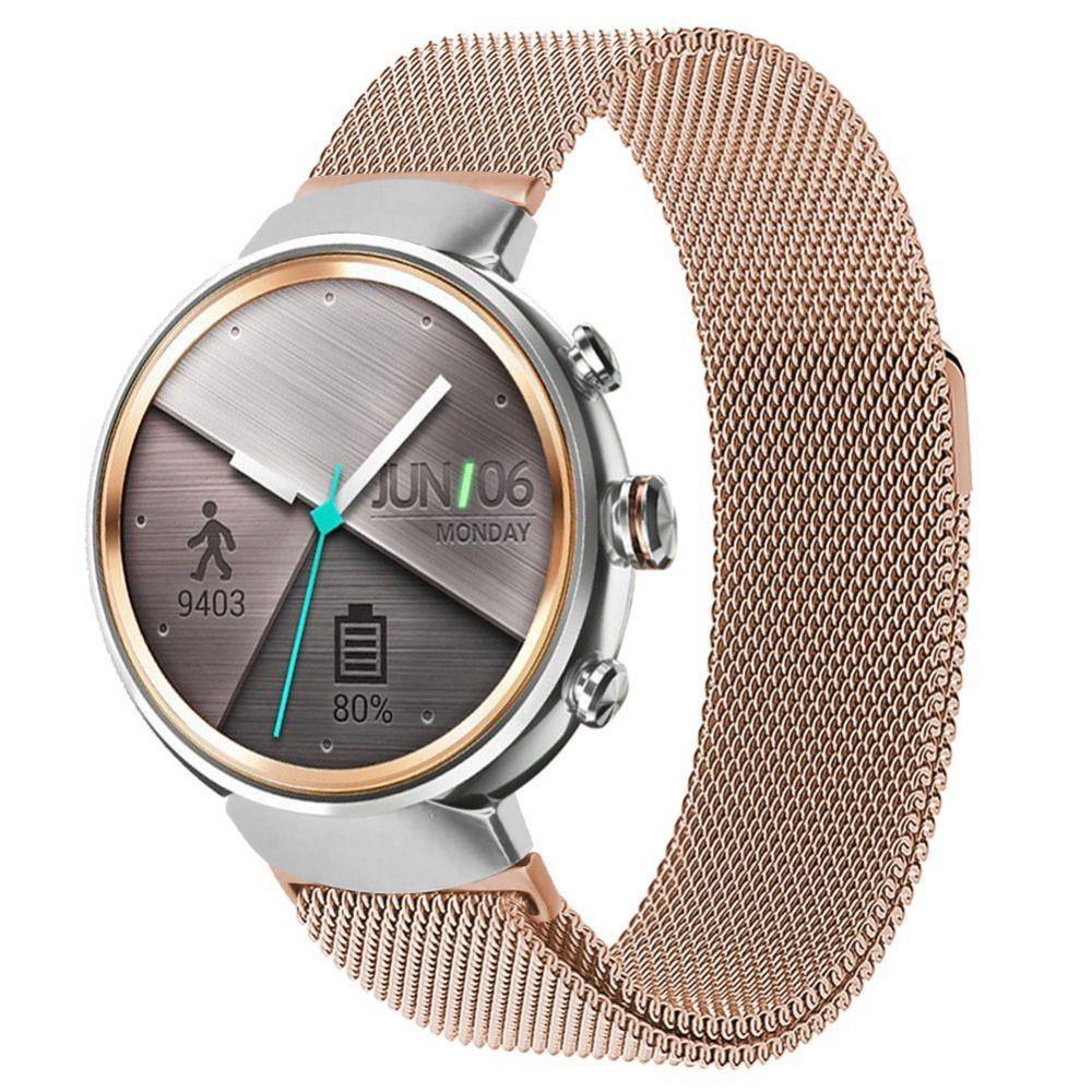 Melhor banda de loop milanesa para asus zenwatch 3 pulseira de substituição por sucção magnética pulseira acessórios preto / prata / dourado