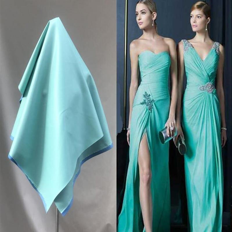 138cm blue elastic waterproof knitting pu leather fabric car dress sofa diy textiles sequin coat fabric D181