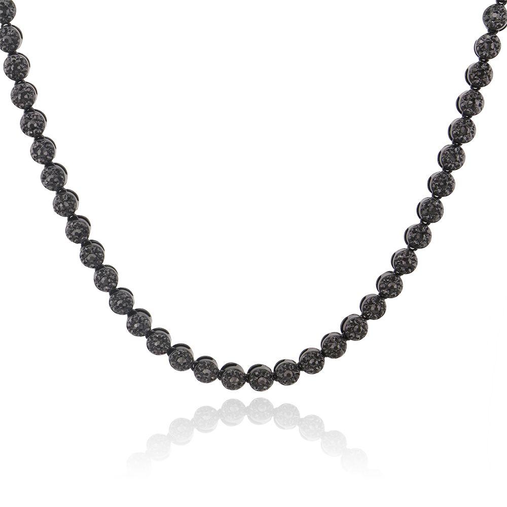 Moda-hip hop hacia fuera helado cadenas collares regalos de joyas cadena de oro de plata negro de diseño de lujo cadenas de oro de tenis para hombre collar de diamantes