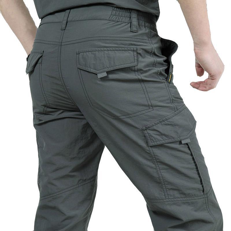 Impermeabile Cargo pantaloni casual uomo traspirante tattico Pantaloni Quick Dry 2020 New Spring Maschile dell'esercito Pantaloni Jogger Outdoor