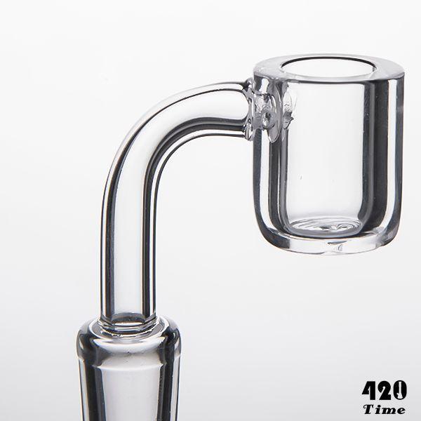 4mm de espessura de quartzo Banger Domeless Quartz prego Flat top Banger de quartzo 10 mm 14 mm 18 mm feminino masculino para bong de vidro tubos de água por atacado