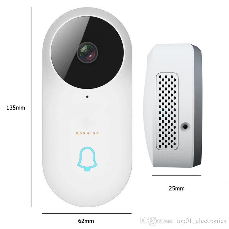 Dophigo Smart Wireless WiFi Doorbell HD Camera Video Intercom Home Security