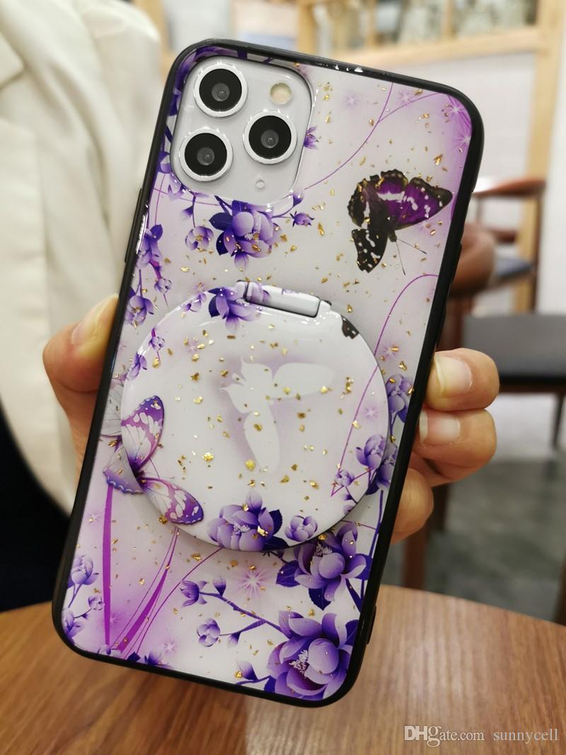 Uno para Motorola E6 G7 G6 E5 E4 P30 Power Play Plus con función de pata de cabra Espejo Soporte epoxi Diseño cubierta de la caja del teléfono