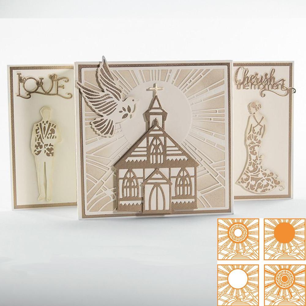 O Sol Brilha Brilhantemente Corte De Metal Morre Novos Stencils para DIY Scrapbooking DIY Cartões de Papel Artesanato Fazendo Decoração Artesanato