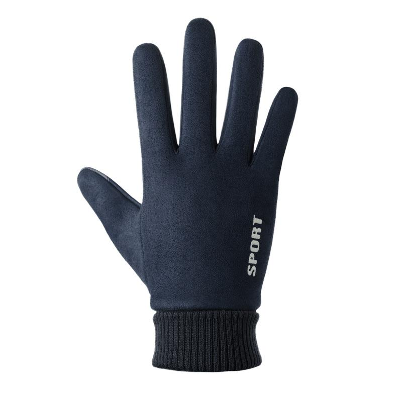 Guantes de rocío dos dedos invierno caliente antideslizantes gamuza elástico de los hombres Guantes de conducción de pescado al aire libre conveniencia de Trabajo manoplas Guante G015