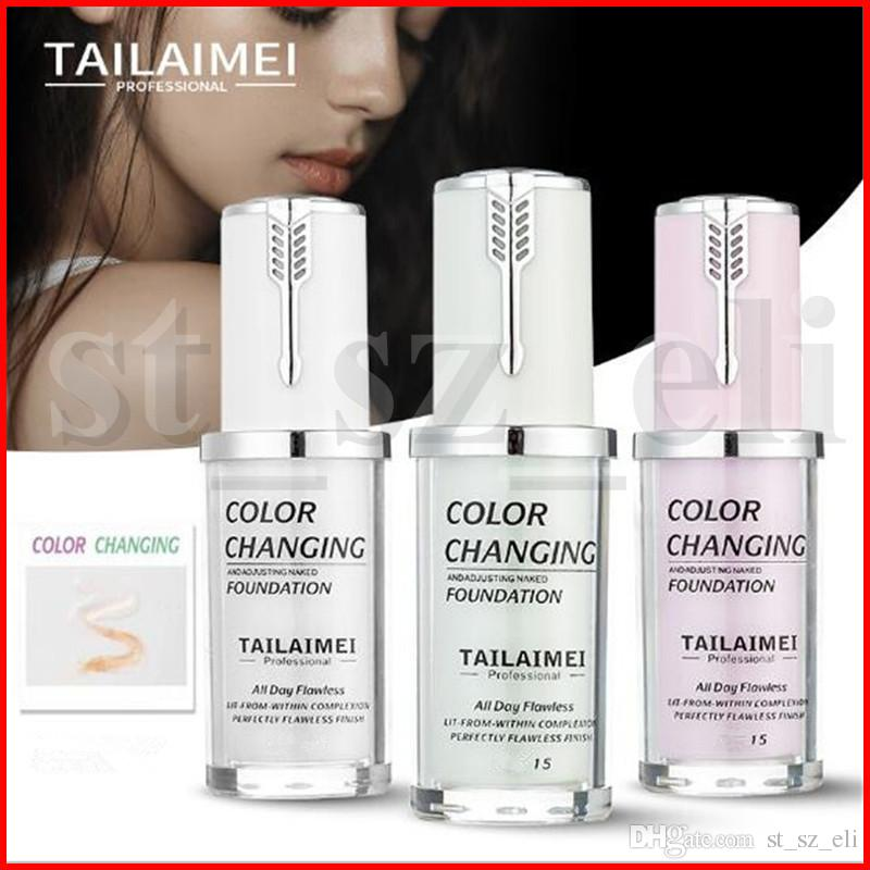 Tailaimei Pro Classic 40ml TLM Color Changing and Adjusting Naked Foundation Magic All Day Flawless Lasting Finish Liquid Concealer