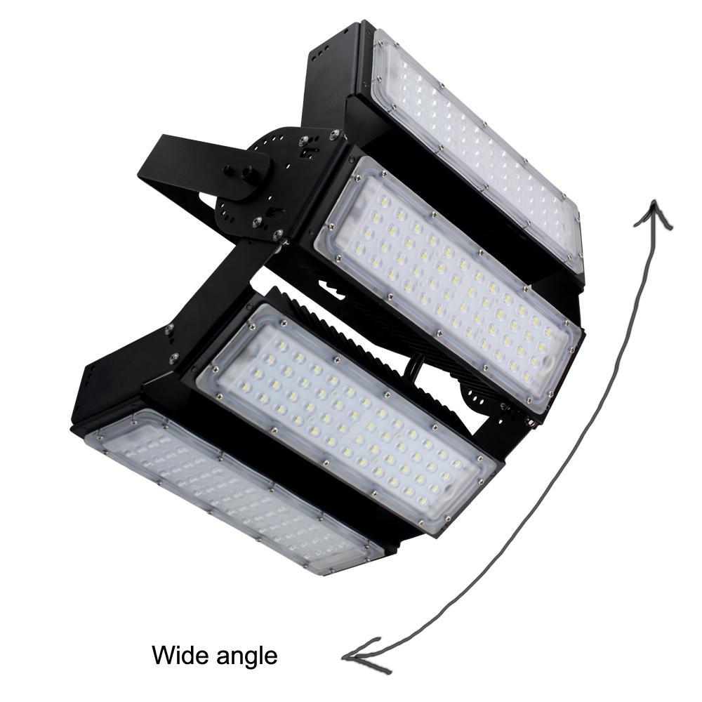 Grand angle d'éclairage LED réglable carrée nouvelle lampe 200W 300W modulaire Séparée 60 Faisceau High Bay Luminaire