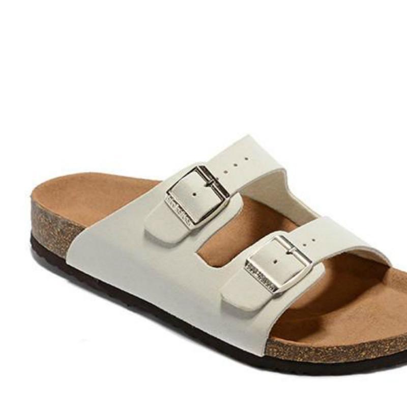 2020 Hot Sale-Sandali pattini casuali delle donne doppia fibbia famoso marchio Arizona Summer Beach superiore pantofole vera pelle con Orignal