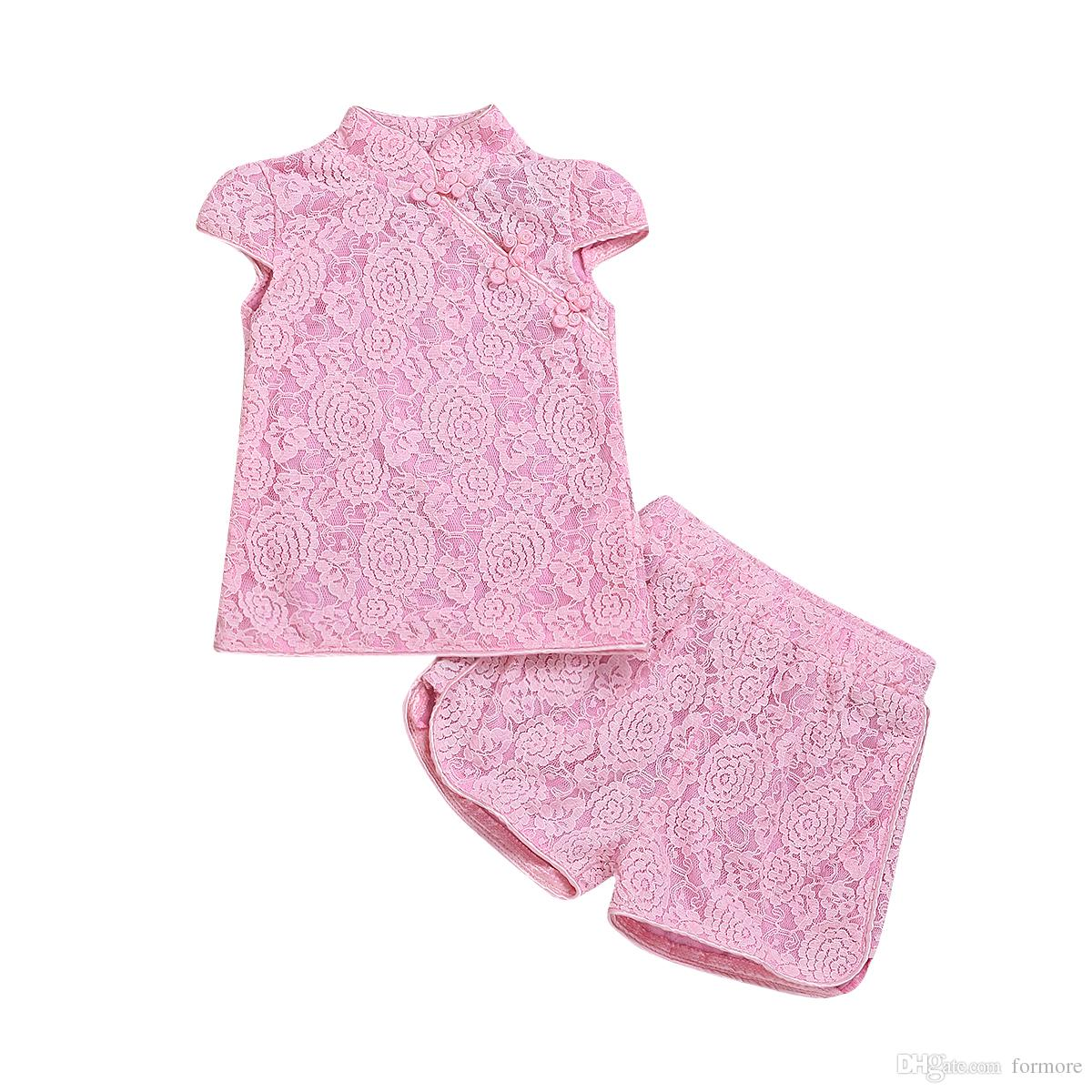 Baby Girl school wear Clothing Set Kids girl lace formal party Toddler Outfit Boutique Clothes Suit