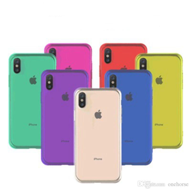 القضية للحصول على XR إكسس إكسس ماكس كاندي اللون الشفاف حالة الهاتف الخليوي نفاذية عالية TPU لينة حالة من البلاستيك واقية للحصول على 6 7 8