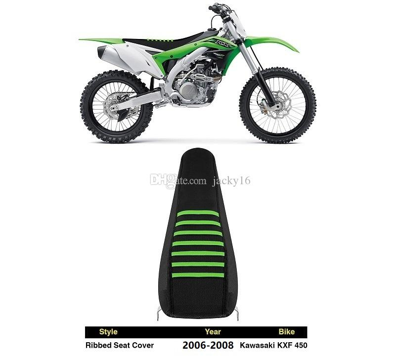 25 sets/carton wholesales 2006-2008 KXF450 Black Green Ribs Ribbed Seat Cover FOR Kawasaki Honda Yamaha Suzuki BMW Racing part