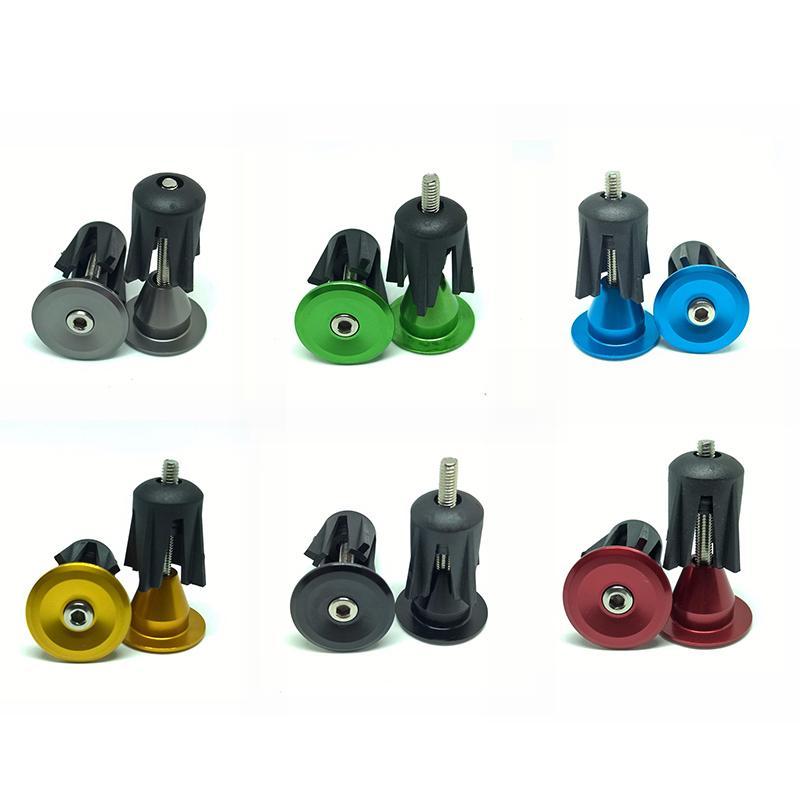 1 Paar Fahrrad-Griff-Lenker End Cap Aluminiumlegierung MTB Lenkergriffe Plugs Kappen für Fahrradlenker Zubehör