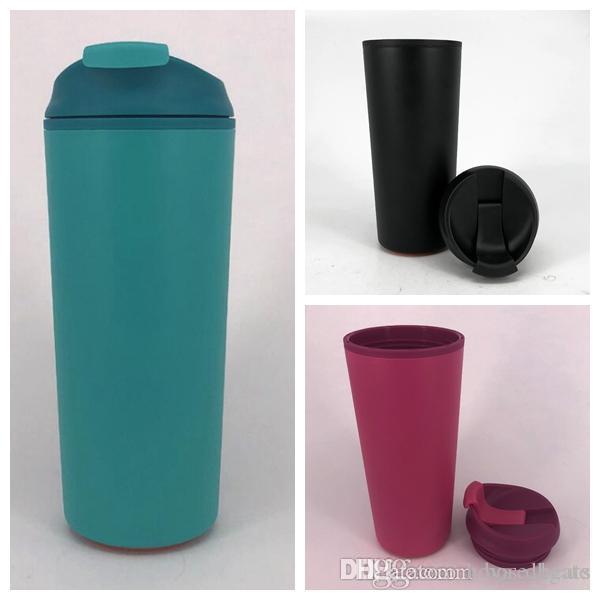 Accesorios de café tazas de agua Vasos Tazas de viaje caliente fría no Slip Grip Tornillo Tapa Tapa abierta Tapa de café Interior Copas de coches CCA11444 50pcs