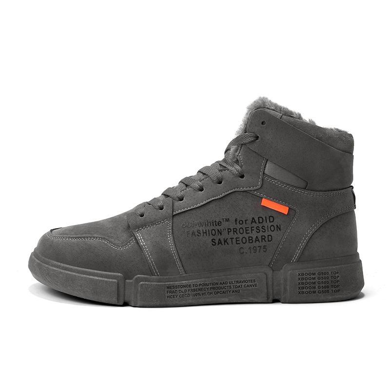 sapatos casuais 2019 homens da mola resistente ao desgaste alto-top sapatos masculinos tendência rendas esportes além de veludo shoesYGb-51