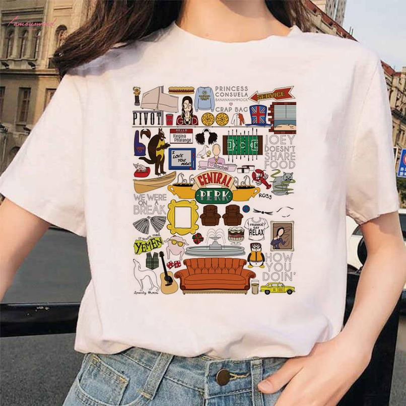 Katzen-T-Shirt T Shirt Frauen Freund Tv Show Smelly Cat Gedrucktes T-Shirt Sommer Funny Girl und weibliche Spitze T-Freunde