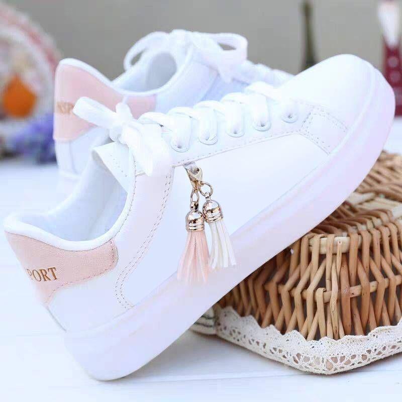 Mesh Chaussures Blanc Mode Femmes Chaussures respirantes étudiants coréens Casual Sport Flat Femmes