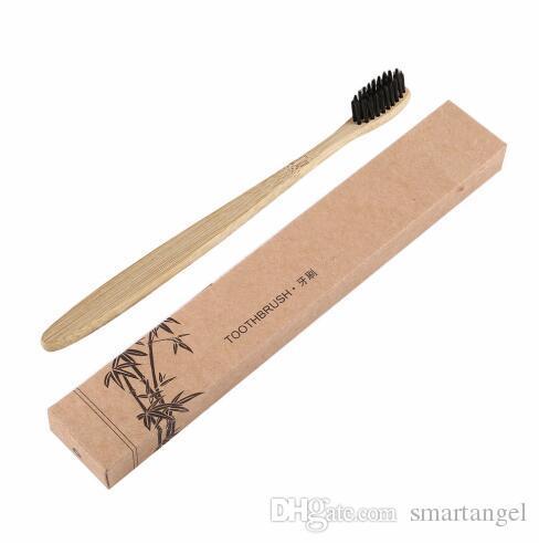Comfortable Natural Environmental Long Lasting Toothbrush Bamboo Handle Toothbrush Charcoal Bristles Health Oral Care