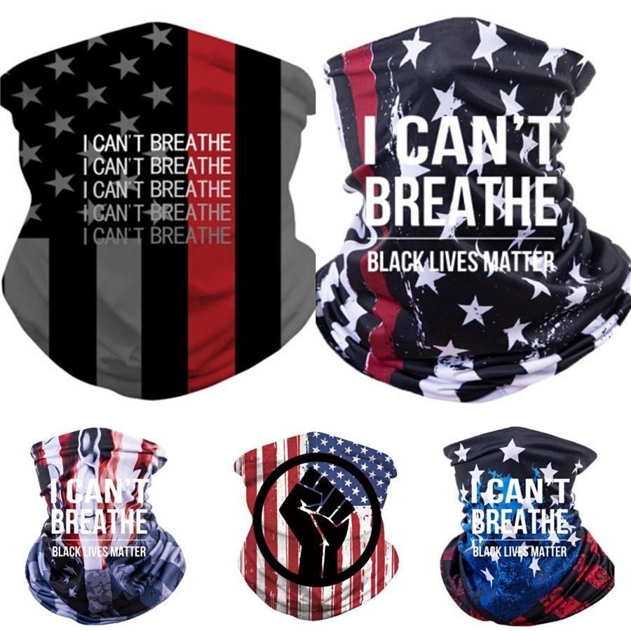 Я не могу дышать! Солнцезащитный Headgear шарфы лето Открытой езда маски для лица Полотенца головки ленты для Black Lives Материи Быстрее Доставка Cny2167 # 13