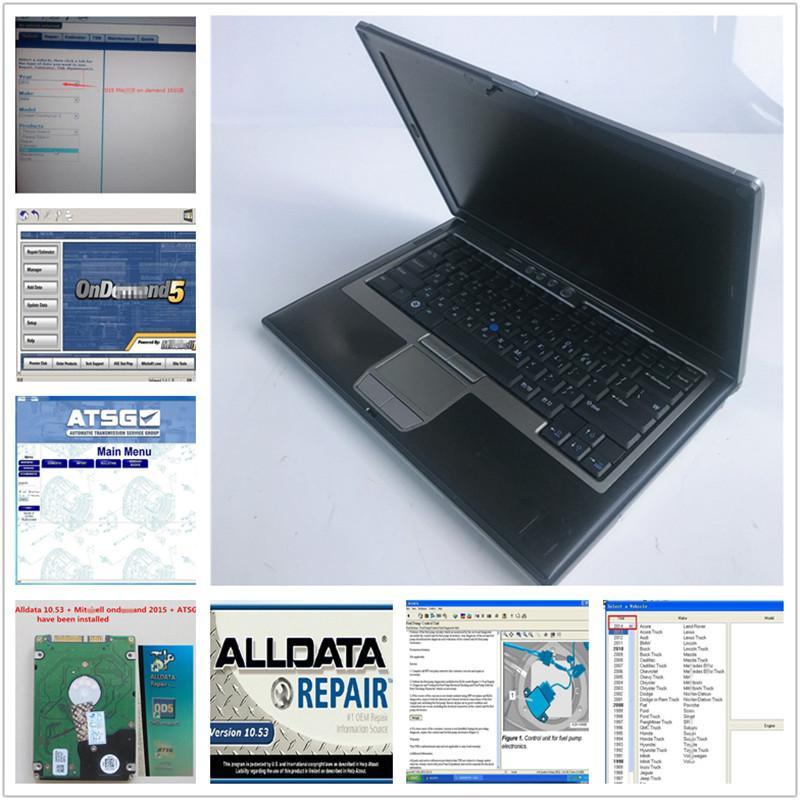 multi-brands car diagnosis soft-ware Auto Repair Alldata Soft-ware V10.53+Mit 2015 + ATSG 3 in 1TB HDD + D630 4GB used Laptop DHL free