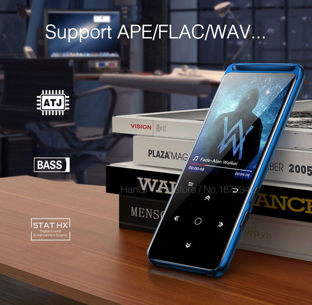 Benjie M6S Bluetooth 5.0 Lossless MP3 players 16GB HiFi Portable Audio Walkman com FM Rádio Ebook Voice Recorder MP3 musics player