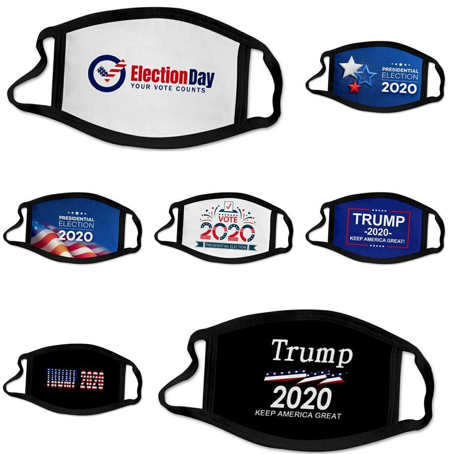 Zkgf Gesichtsmaske 3Ply Non Woven Mundmasken Home Use Staub Atem Designer Trump Facemask 50 1pcsblack Blue # 832