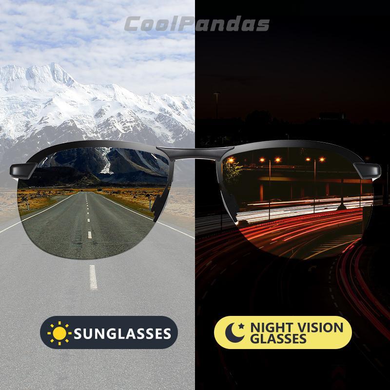 2020 Марка Фотохромные Мужские солнцезащитные очки поляризованные очки ночного видения День Вождение ВС Очки Мужской óculos De Sol Мужчина для