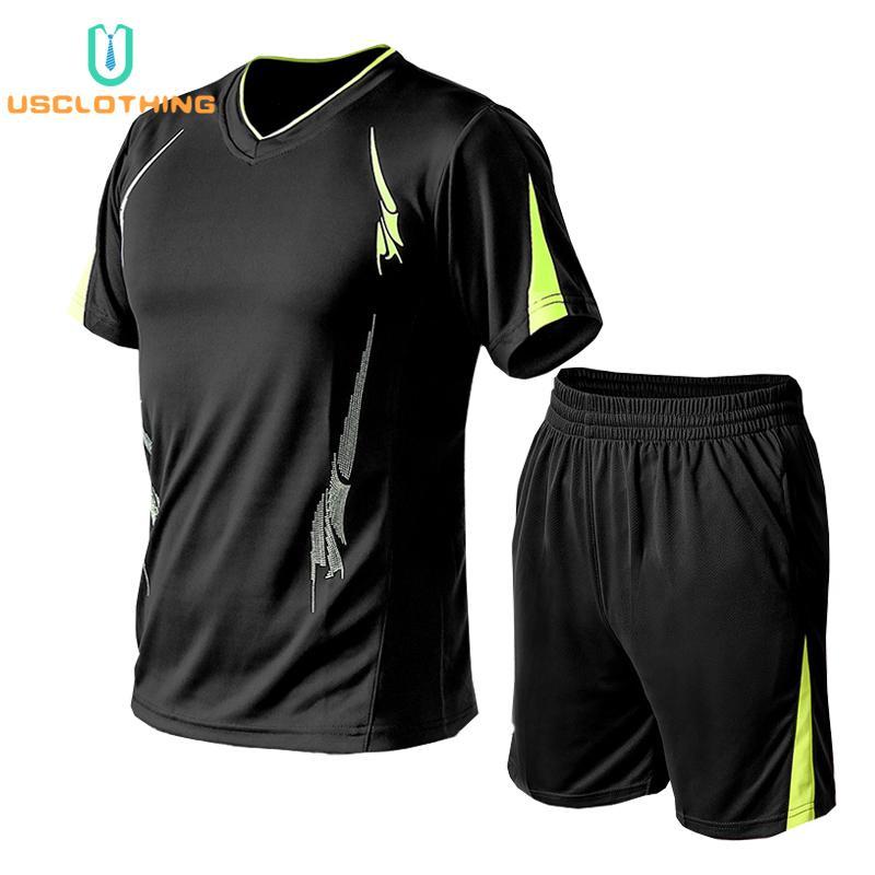 2pcs camiseta + pantalón corto chándal Hombre Marca Conjuntos Pantalones cortos camiseta de hombres del verano juego del ocio de deporte para hombre de la camiseta de la camiseta de CX200702