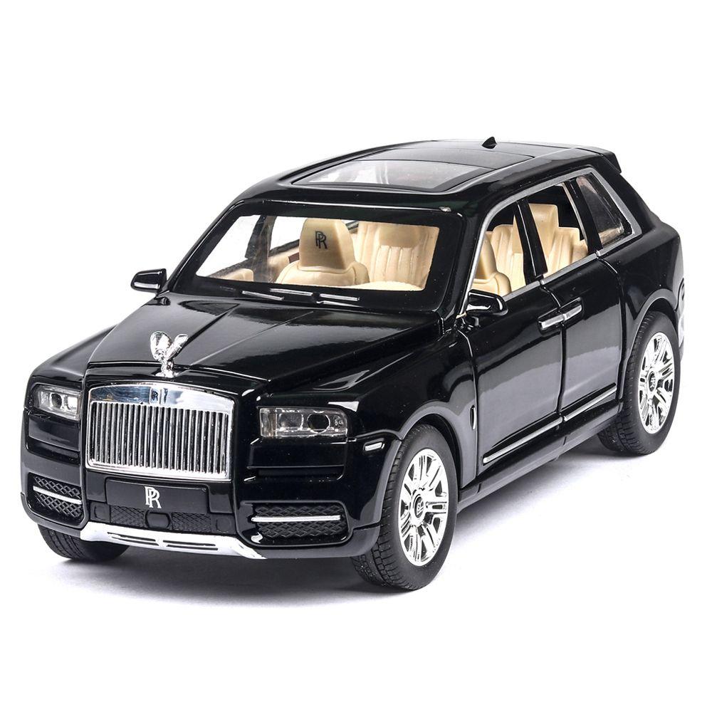 01:24 رولز رويس كولينان سبيكة كبيرة الحجم سحب محاكاة SUV معدن نموذج ضوء الصوت العودة على نطاق وminiatur T200110 السيارات