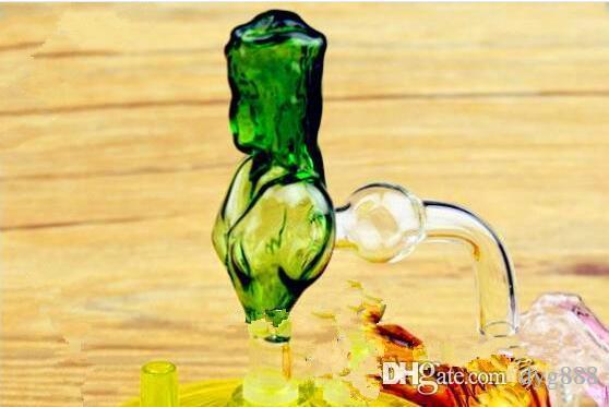 Красота фальшиво, бонги Оптовая стекла Нефть горелки Трубы Водопроводные трубы стеклянные трубные нефтяные вышки для курения, Бесплатная доставка