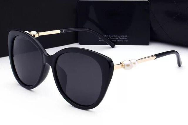 L'alta qualità nuova signora donna occhiali da sole con scatola UV400 polarizzanti occhiali da sole moda per le donne di perle occhiali da sole