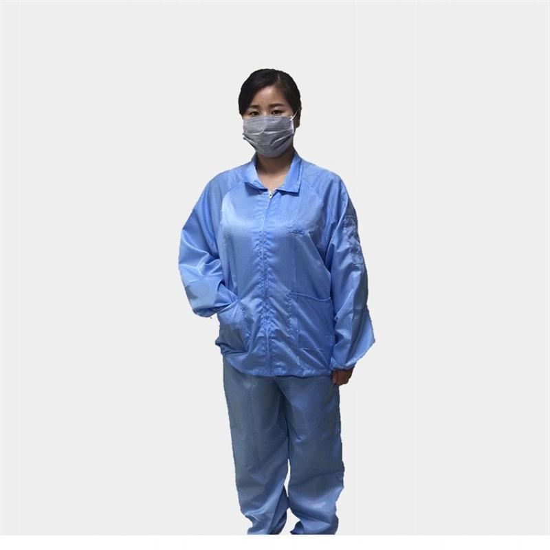Sécurité Zip Isolation de protection Costume Vêtements rayé extensible poignet anti statique poussière Saliva Travailleur Adults salopettes Combinaisons Vêtements E1
