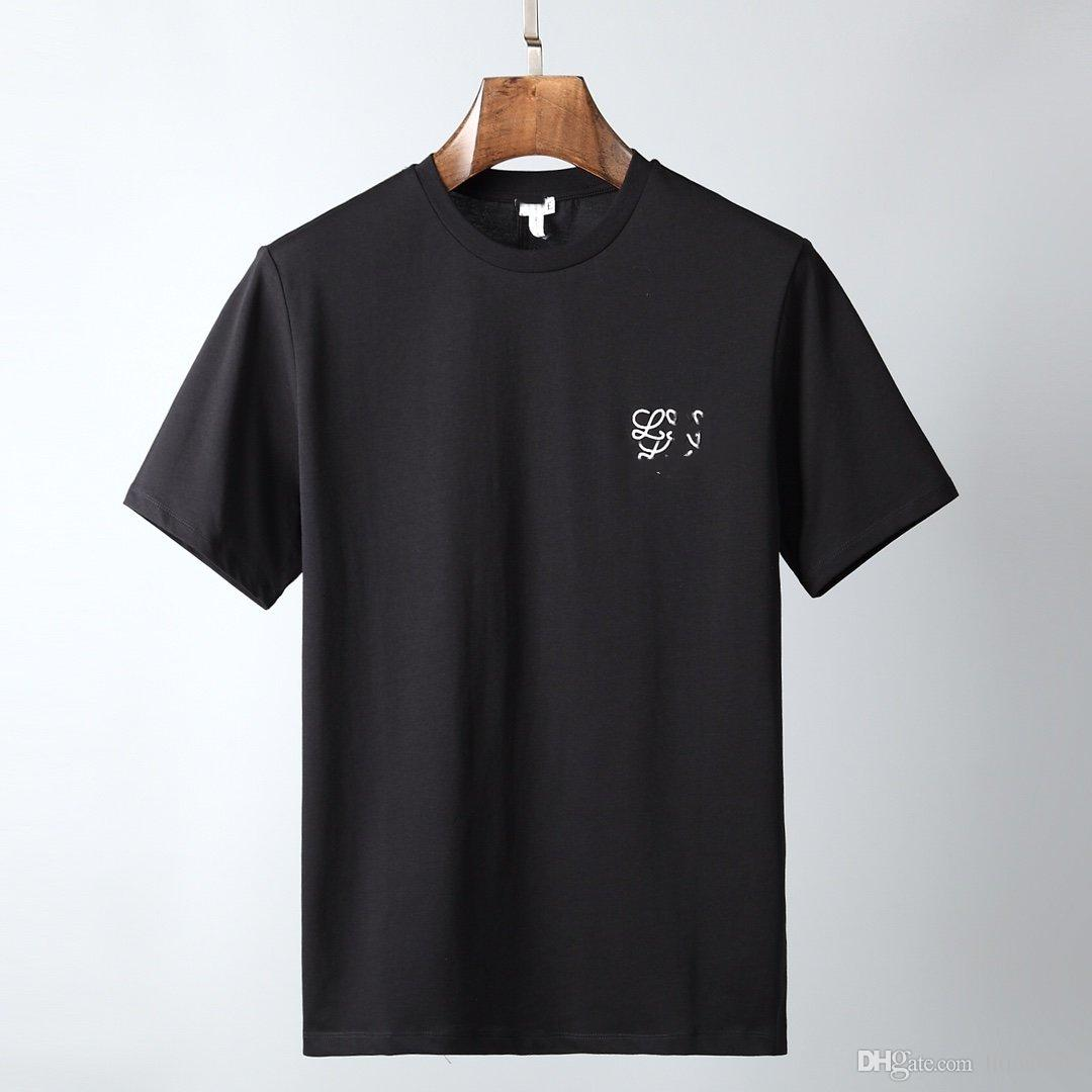 2020 nuevos hombre de la moda de pasarela limitada para mujer de la ropa de la camiseta para hombre bordado en el pecho de la camiseta de algodón niñas camiseta ocasional simple