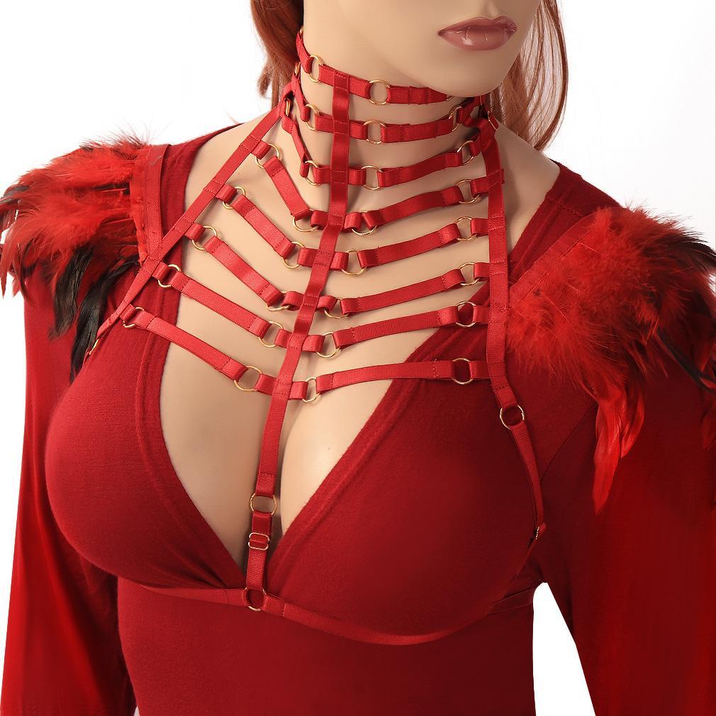Donne Cage Bra Corpo esotico gotica Sexy Lingerie Bondage Festival Revelry Bra Harness 57