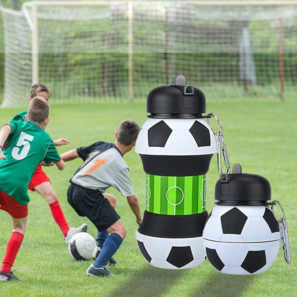 Sports de plein air de qualité alimentaire en silicone Bouteille d'eau portable anti-chute et étanche Bouteille d'eau en silicone pour les étudiants