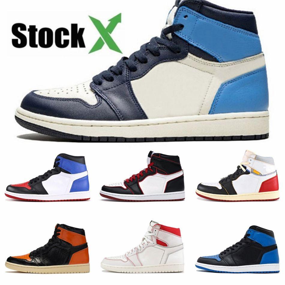 High 1 Men Basketball Shoes 1S Jumpman Gold Top Homage To Home Travis Crimson Tint Unc New Love Paris Sneakers #918
