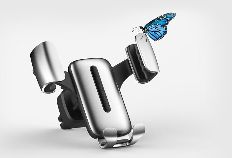 Soporte de ventilación de aire para automóvil Soporte para teléfono móvil inteligente Soporte para automóvil Soporte de detección de gravedad Soporte para automóvil En paquete minorista