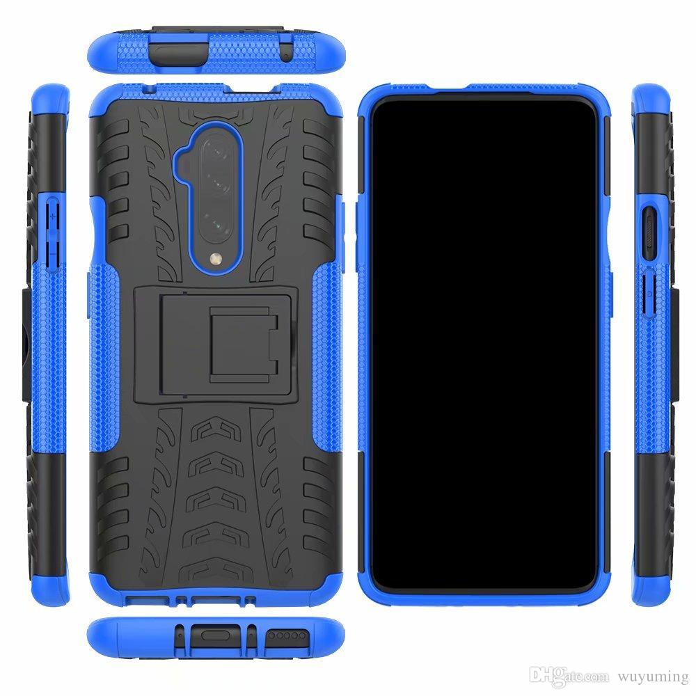 Для OnePlus 7 Pro 6,67 дюйма Прочный Гибрид Броня Heavy Duty Hybrid TPU Stand Impact Пластиковый корпус Жесткий Ударостойкой обложка чехол