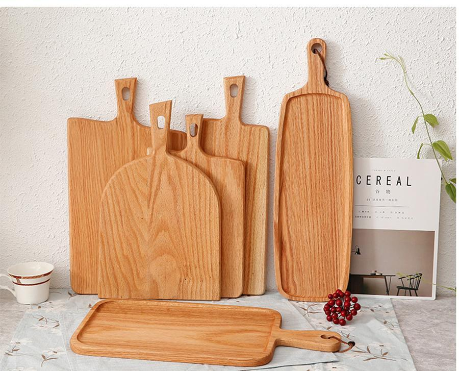 Hot sale Squre Kitchen Chopping Block Wood Home Cutting Board Cake Sushi Plate Serving Trays Bread Dish Fruit Plate Sushi Tray Steak Tray