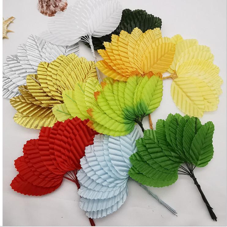 Sıcak Silk Stocking Çiçek Yapay Scrapbooking Parti Aile Dekorasyon 10 Ad / Paketi Moda Çoklu Renk Yüksek Simülasyon Yapraklar