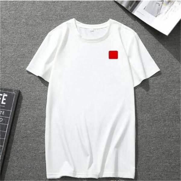 К 2020 году новые мужские t рубашка Европейский и американский популярные маленькое красное сердце печать футболка мужчины женщины пары футболки