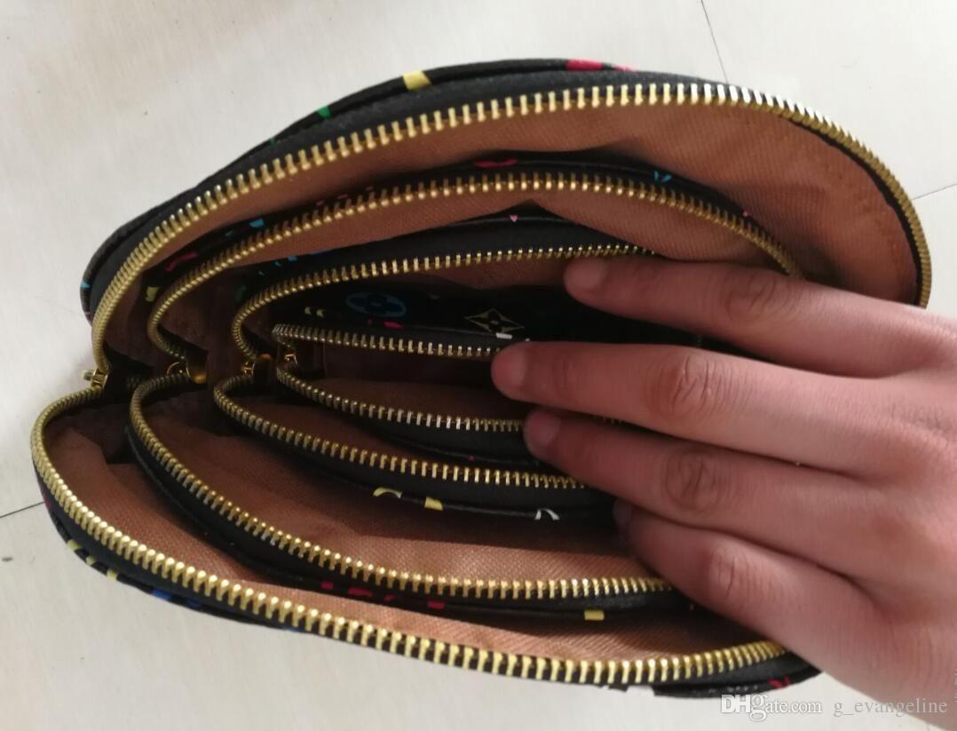 Frauen-Kosmetiktasche 4pcs / set Mehrfarbenmusterdesigner-Kupplungsdame Kulturbeutel bilden Verfassungsbeutelbeutel