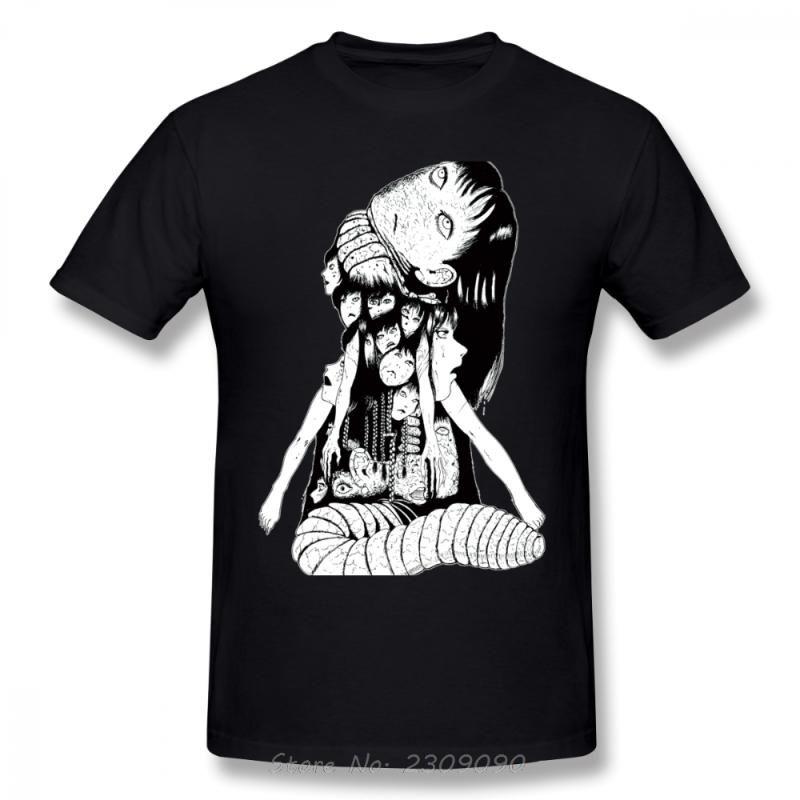 TShirt Cotton homens Tomie TShirt New Verão Manga Junji Ito Camisetas menina Kago Shintaro Tees New Arrival engraçados Harajuku